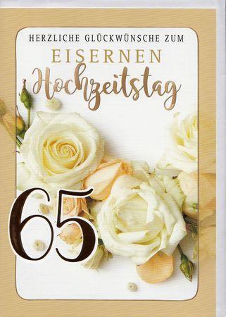 Hochzeit eiserne glückwunsch spruch 52+ Spruch